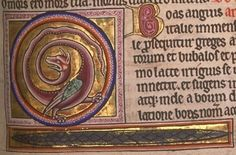Src: Aberdeen Bestiary Folio 69r: Boa. Likes: The style, it's all spirally! Dislikes: It's too big, it only has one head.