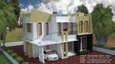 Check Out Our Unique #ContemporaryDesign. Contact us #contemporaryhome #keralamodelhome http://www.kmhp.in/…/contemporary-model-house-plans-jai-co…/