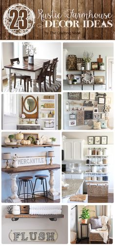 Are you a farmhouse style lover? If so these 23 Rustic Farmhouse Decor Ideas will make your day! Check these out!!! Popular Pins!