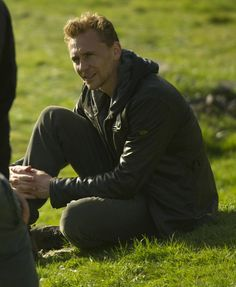 "Tom Hiddleston in Cornwall during the filming of the ""The Night Manager"""