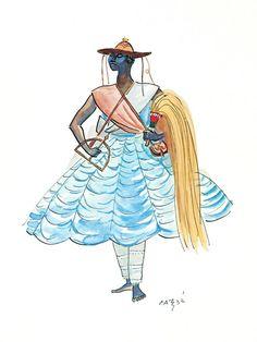 Afro, African Mythology, Deities, Tatoos, Design Inspiration, Disney Characters, Traditional, Pictures, Disney Princess