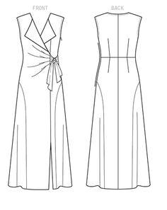 Vogue Patterns Sewing Pattern Misses' Dress Vintage Vogue Patterns, Vogue Sewing Patterns, Clothing Patterns, Wrap Over Dress, Dress Making Patterns, Jacket Pattern, Pattern Fashion, Creations, Pattern Drafting