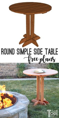 Woodworking Tools Planer Connie Round Side Table Plans - Her Tool Belt.Woodworking Tools Planer Connie Round Side Table Plans - Her Tool Belt Awesome Woodworking Ideas, Best Woodworking Tools, Woodworking Joints, Easy Woodworking Projects, Woodworking Furniture, Wood Projects, Woodworking Techniques, Pallet Furniture, Woodworking Ideas Table