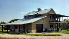 We love the idea of a two story barndominium.