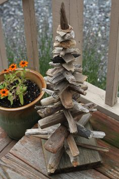 Large driftwood tree sculpture by reclaimednj on Etsy, $100.00