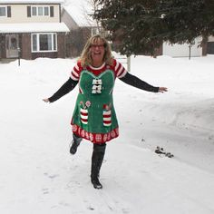 Because we can. Happy eve of Christmas Eve. Getting ready for our annual open house. I found this adorable little number in #pennsylvania. Happy ugly sweater day.  #myottawa #ottawa #ottcity #613 #yow #ottawalife #ottawaphoto #yowstyle #ottawastyle #ottawafashion #ottawablogger #ottawablog #thefierce50 #realoutfitgram #thefierce50revolution #shoedazzlegirl