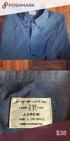 J. Crew Men's 2 Ply Button Down Cotton Shirt J. Crew 2 ply Button Down cotton men's shirt. Size Large (16 - 16.5) J. Crew Shirts Casual Button Down Shirts