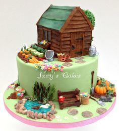 Marcia's Garden - by izzyscakes @ CakesDecor.com - cake decorating website