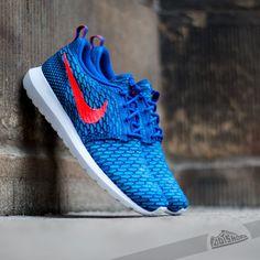 Nike Flyknit Rosherun Game Royal/Bright Crimson/Blue Lagoon