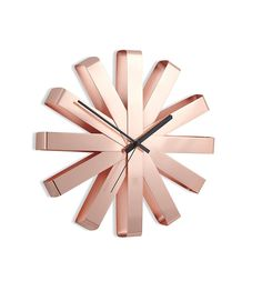 Umbra Ribbon Wall Clock, Copper [2 to 5 Day Free Delivery]