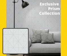 WonderWall Exclusive Wallpaper | Apex Prism Grey/Silver | 41100