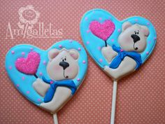 Teddy Bears (Heart Cookie Cutter)