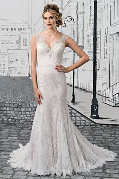 Wedding gown by Justin Alexander.