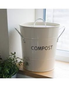 cute compost bin-to give to the chickens?