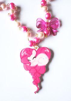 My Little Pony Necklace Pinkie Pie Kawaii Piece by XKawaiiCutieX, £14.00