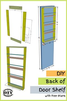 It's always nice to have extra storage space to keep household items more organized. There is one little place that typically is not being utilized, which is behind the closet door. So I've built a DIY Back of Door Shelf Organizer for our pantry closet. This gives us more space to store additional items. #diy #freeplans #projects #homedecor #interior #furniture #woodproject #storage #doityourself #homeimprovement #organizer