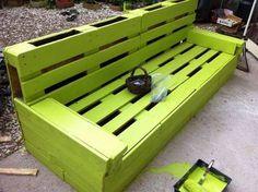 Green Pallet Bench