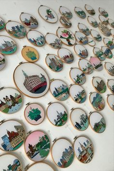 FaimyxStitch - architectural hand embroidery patterns by FaimyCrossStitch Petersburg Russia, Saint Petersburg, Wooden Hoop, Hand Embroidery Patterns, Beautiful Hands, White Cotton, Cotton Fabric, Decorative Plates, Etsy Seller