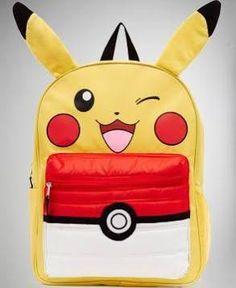 Pikachu backpack so cute