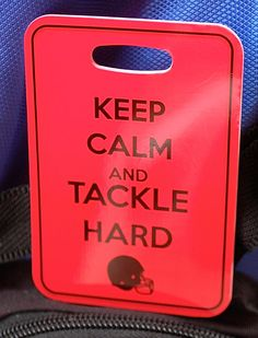 Football lover's Luggage Tag Football Bag Tag by FlipTurnTags