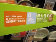 Knowing your labels is the best way to ensure that the compostable products you buy can actually be composted. Meeting ASTM D-6400 standards is a good indicator that the product will biodegrade at a composting facility.