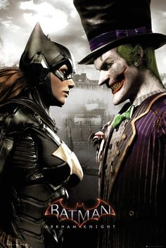 Batman Arkham Knight Batgirl and Joker - Official Poster