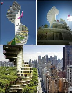 "The ""Stairscraper"" was a winning design by Barcelona-based architect Nabito in the Total Housing Competition. The ""horizontal landscape city,"" reportedly scheduled for completion in Abu Dhabi in 2015, will allow each apartment to have its own balcony and roof garden."