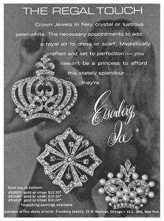 "1966 Eisenberg Ice Ad - Nude Background - ""The Regal Touch"""