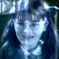 Myrtle (Harry Potter and the Chamber of Secrets & Harry Potter and the Goblet of Fire & Harry Potter and the Half-Blood Prince) Harry Potter Ghosts, Mundo Harry Potter, Harry Potter Fandom, Harry Potter Characters, Harry Potter World, Elizabeth Warren, Ravenclaw, Hogwarts Classes, Moaning Myrtle