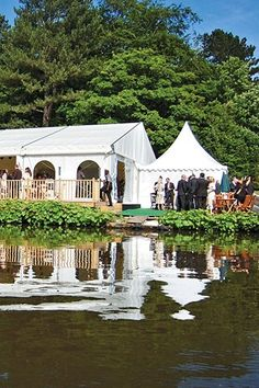 Thornton Manor, Cheshire....my venue..... But not this marquee....waterside pavilion xx