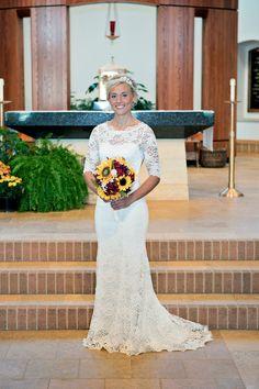 Schlüsselloch zurück Hochzeitskleid in von PolinaIvanova auf Etsy