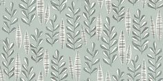 Garden City (MISP1070) - MissPrint Wallpapers - Stylised leafs, inspired by the tree-lined streets on London. Shown here Glacier - more colours are available. Please request a sample for true colour match.