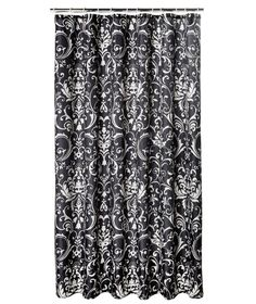 Black And White Damask Shower Curtain buy home sparkle shower curtain - black at argos.co.uk - your