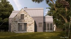 QUELQUES MAISONS MÉTISSES… – Adornetto Farmhouse Architecture, Modern Farmhouse Exterior, Lac Champlain, Modern Lake House, Construction, Building Design, My Dream Home, Outdoor Structures, House Styles