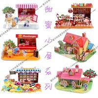 3d puzzle toy diy handmade toy samll toy cute doll