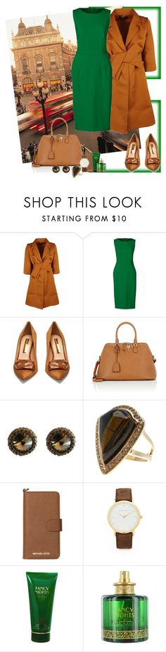 """Green cold day"" by tais-escobar ❤ liked on Polyvore featuring Paule Ka, Lands' End, Rupert Sanderson, Maison Margiela, Free Press, Michael Kors, Jessica Simpson and plus size dresses"