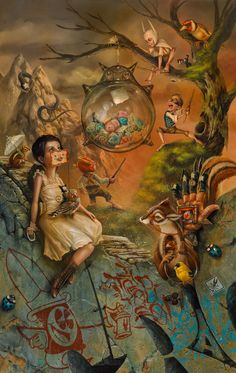 """""""The Glass Piñata"""" Print available at KPprojects gallery and through mkgallery.com"""