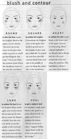 How to apply blush and contour your face shape