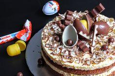 Kinderschokolade-Torte: Die perfekte Kombi aus Vanillecreme, Schokobiskuit und Kinderschokolade-Dekoration, die einfach jedem schmeckt!