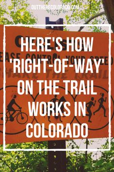 To avoid collisions, arguments, and awkward moments, it's important to understand how 'right-of-way' works on the trail in Colorado. #OutThereColorado #Travel #Colorado #ColoradoVacation #ColoradoSprings #Denver #Breckenridge #RockyMountainNationalPark #Mountains #Adventure #ColoradoFall #ColoradoPhotography #ColoradoWildlife #Mountains #Explore #REI #optoutside #Hike #Explore #Vacation Paris Travel Tips, Solo Travel Tips, Japan Travel Tips, Travel Blog, Usa Travel Guide, Italy Travel Tips, Packing Tips For Travel, Travel Usa, Travel Guides