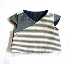 Reversible Organic Cotton-Hemp, Denim & Linen Vest Top.