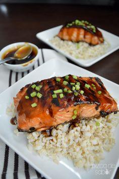 Cómo hacer salsa teriyaki casera + salmón con salsa teriyaki www.pizcadesabor.com