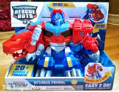 Fab Frugal Mama: 2014 Holiday Gift Guide {#FFMGiftGuide} Transformers Rescue Bots Optimus Primal