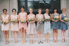 mismatched wedding party dusk colors - Google Search