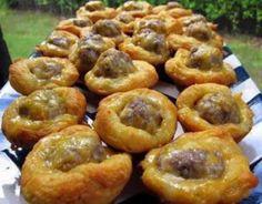Easy Cheezy Sausage Biscuit Bites