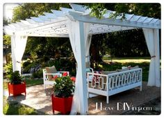 Pergola and Outdoor Furniture | Do It Yourself Home Projects from Ana White