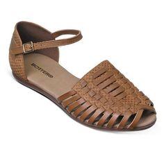 Sandália rasteira rústica caramelo| Sandálias | Bottero Calçados