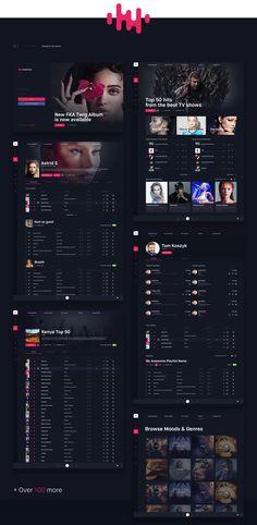 NakedGroove: Online Music Streaming Platform on Behance