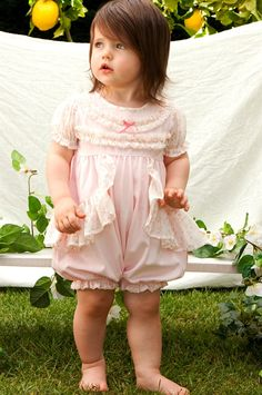 RabbitMoon - Jardin Carnation Pink Bubble with Jardin Ruffle