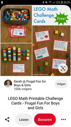 Lego Math, Monopoly, Challenges, Cards, Maps, Playing Cards